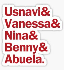 In the Heights Characters | Red Sticker