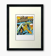 mac demarco in his car Framed Print
