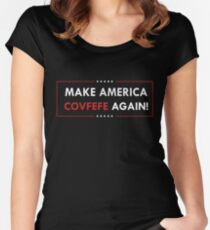Make America Covfefe Again Women's Fitted Scoop T-Shirt