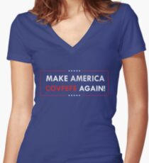 Make America Covfefe Again Women's Fitted V-Neck T-Shirt