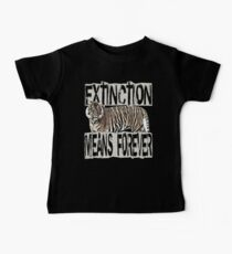 TIGER EXTINCTION MEANS FOREVER Kids Clothes