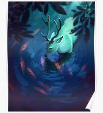 Mystic Deer Poster