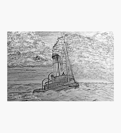 My pencil drawing of a Steam Tugboat  Photographic Print