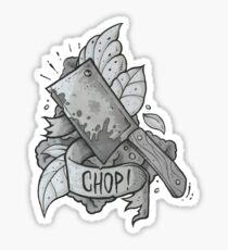 Chop Sticker