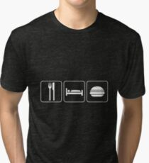 Food Sleep Cheeseburgers Tri-blend T-Shirt