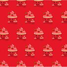 Strawberry Cupcake Family (Pattern 2) by Adam Santana