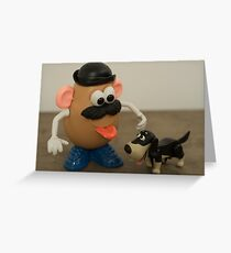 Mr Potato Head and his doggy  Greeting Card
