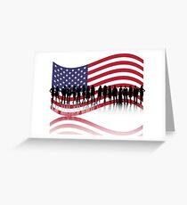 american flag Greeting Card