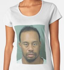 Tiger Woods mug shot Women's Premium T-Shirt
