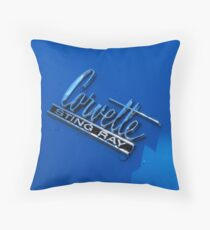 """Corvette Sting Ray"" Throw Pillow"