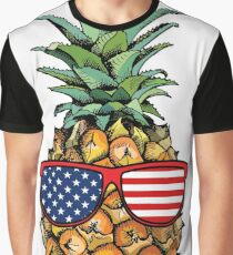 Patriotic Pineapple - 4th of July Graphic T-Shirt