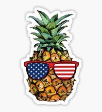 Patriotische Ananas - 4. Juli Sticker
