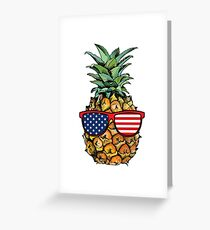 Patriotic Pineapple - 4th of July Greeting Card