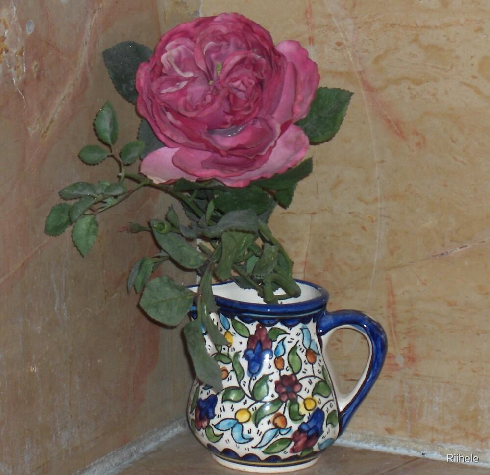 Rose in a Jug by Riihele