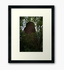 HDR Composite - Silo at Abandoned Farmstead 2 Framed Print