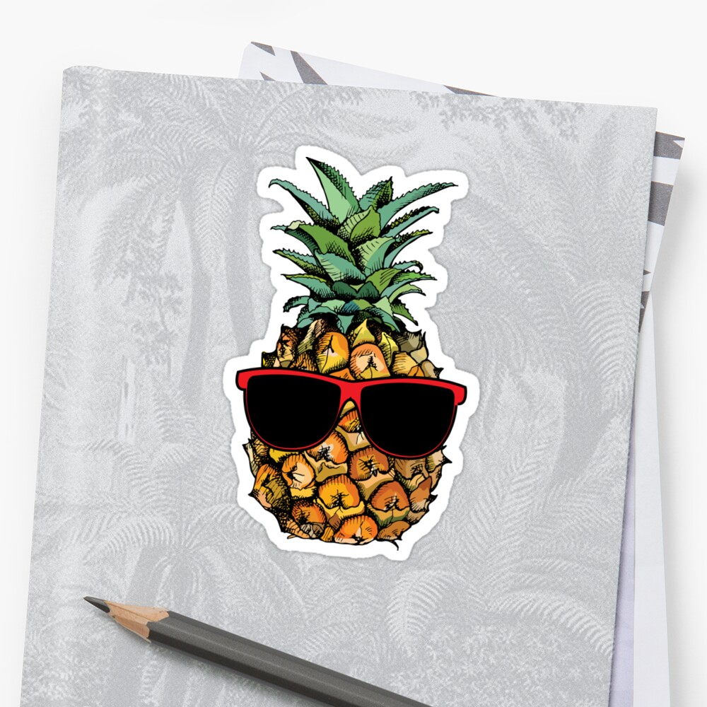Cool Pineapple With Sunglasses by heyrk