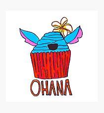 Ohana Cupcake Photographic Print