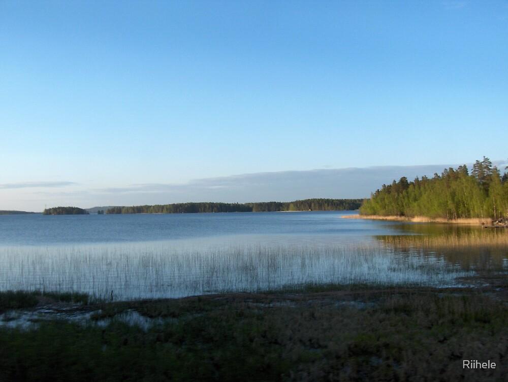 Peaceful setting by a Lake by Riihele