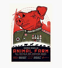 Animal Farm Movie Poster Photographic Print