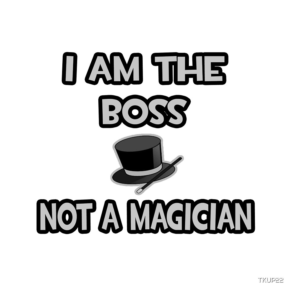 I Am The Boss, Not A Magician by TKUP22