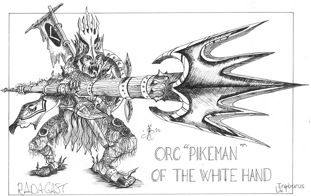 """""""Orc pikeman of the white hand"""" by Treborus"""