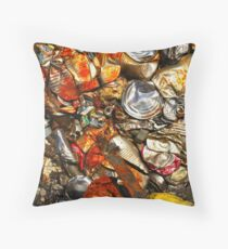 To Save the Earth - Recycled Trash Throw Pillow