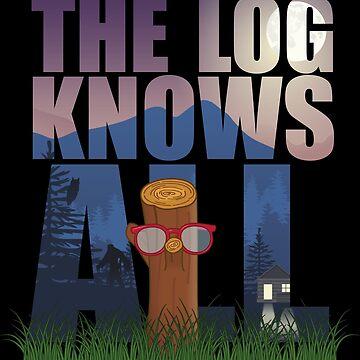 The Log Lady's Log Knows - Twin Peaks Inspired Design by LemonRindDesign