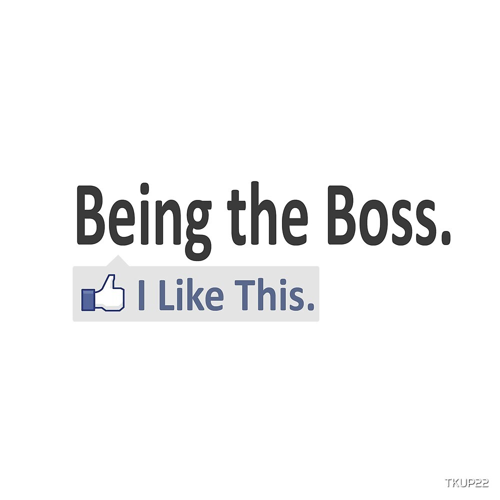 Being The Boss.  I Like This. by TKUP22