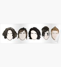 My Chemical Romance Faces Poster