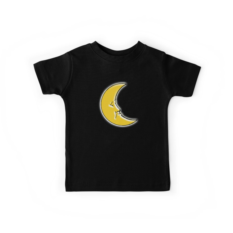 CRESCENT MOON, Man in the Moon, the waxing or waning moon by TOM HILL - Designer