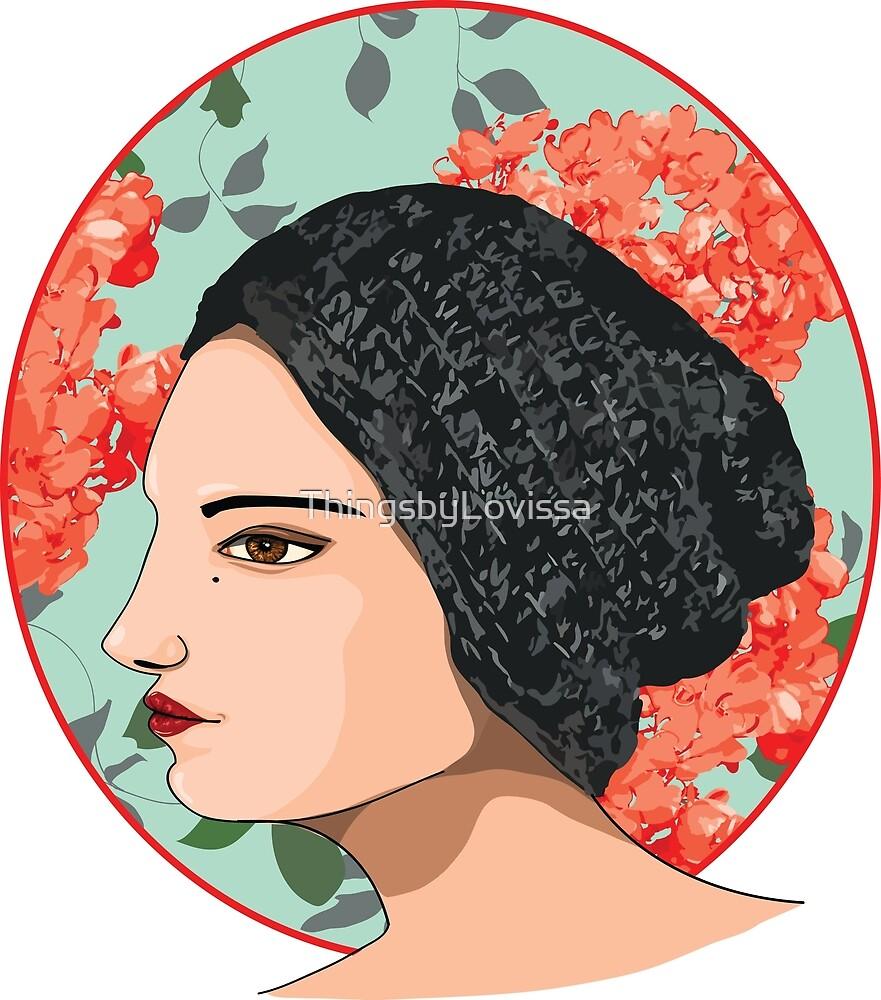 Floral Beanie Girl by ThingsbyLovissa