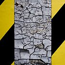 Caution - Cracked Paint by Court Milley