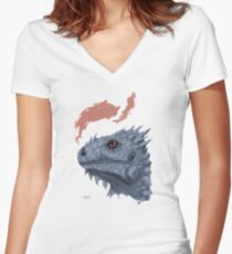 St. George's Dragon Women's Fitted V-Neck T-Shirt