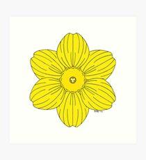 Heraldic Daffodil Art Print