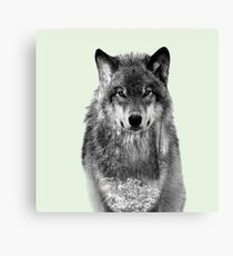 Snowy forest Wolf Canvas Print