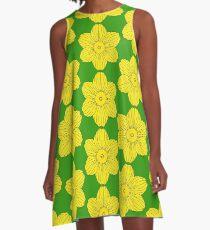 Heraldic Daffodil A-Line Dress