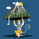Hanuman Mountain Pixel Art by artkarthik