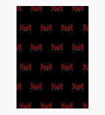 Guns and Roses Red (Pattern 2) Photographic Print