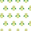 Green & Green Owl (Pattern) by Adam Santana