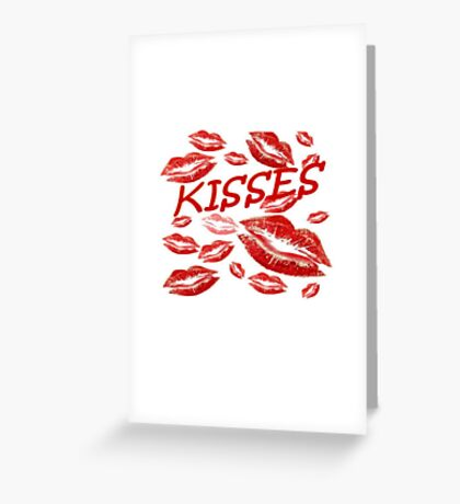 Cover Me In Kisses Greeting Card