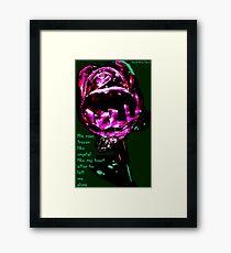 His Rose Framed Print