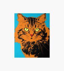CAT POP ART BLUE Art Board