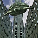turtlezilla, flying turtle over NY by gameover