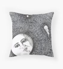 Harsh Mistress by Mary Bottom Throw Pillow