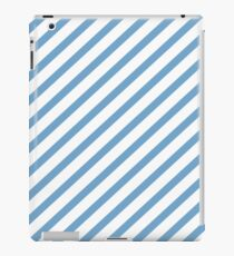 Blue/white stripes iPad Case/Skin