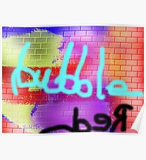 red bubble Poster