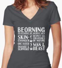 Beorning - LoTRO Women's Fitted V-Neck T-Shirt