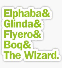 Wicked Characters | Green Sticker