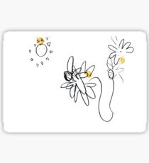 disjointed daisies Sticker