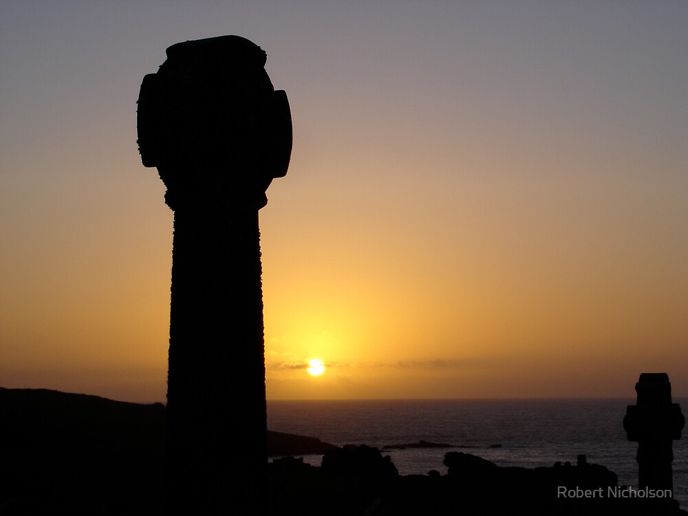 Sunset From Barnoon Cemetery, St Ives by Robert Nicholson